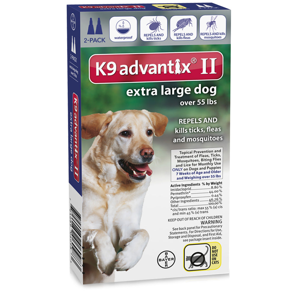Flea and Tick Control for Dogs Over 55 lbs 2 Month Supply