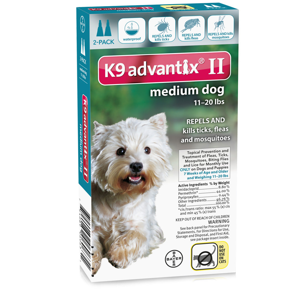 Flea and Tick Control for Dogs 10-22 lbs 2 Month Supply