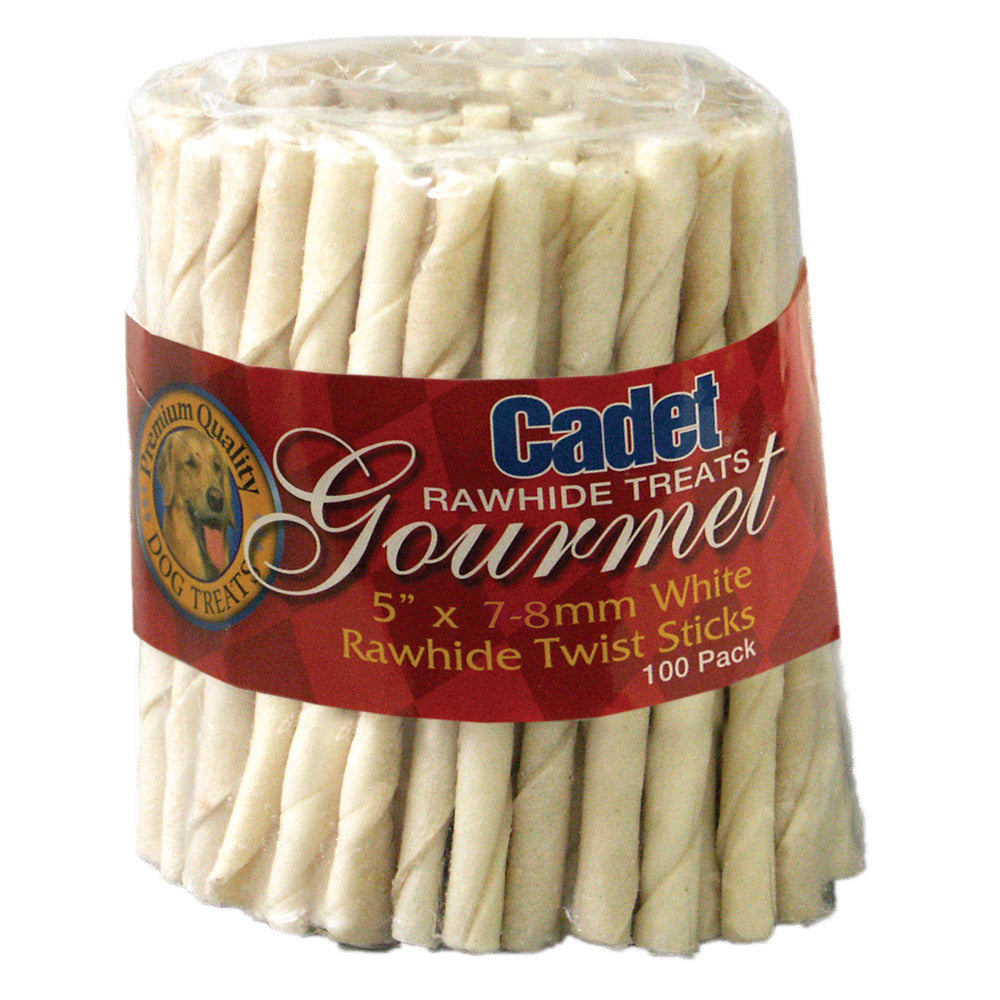 Rawhide Twist Sticks 5 inches 100 pack