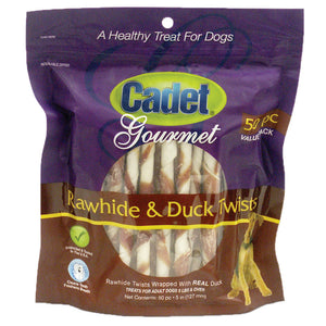 Premium Gourmet Rawhide and Duck Twists Treats 50 pack
