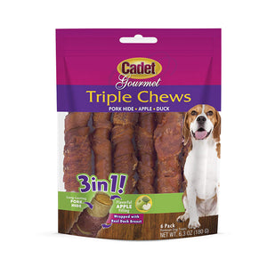 Triple Chew Treat Duck and Apple 6 pack
