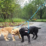 Load image into Gallery viewer, 2 Dogs On A Toggy Doggy Blue Dual Dog Leash