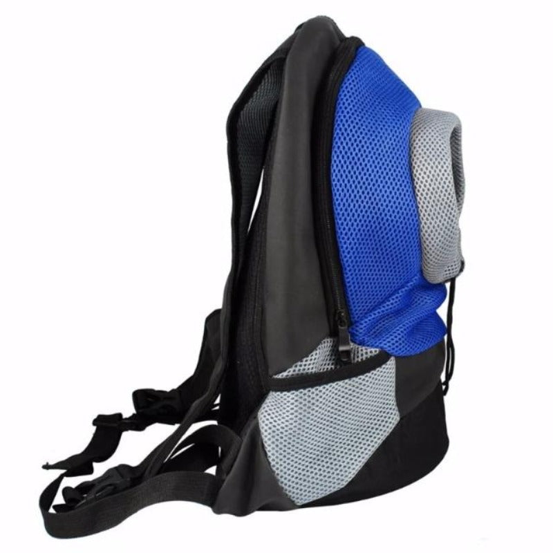 Side View Of The Blue Front Carrying Dog Backpack