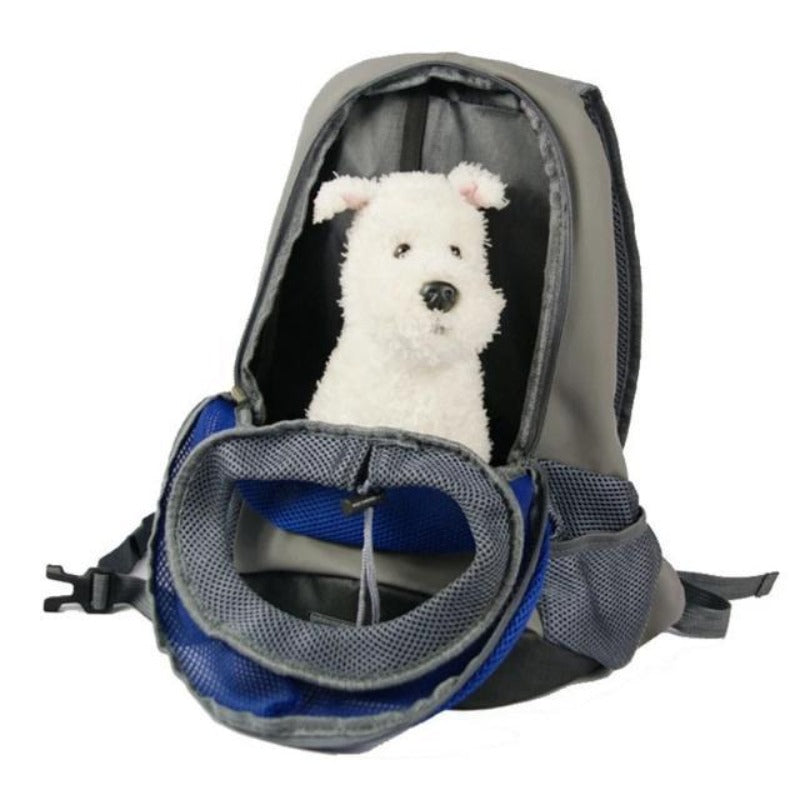A Dog Inside TheFront Carrying Dog Backpack