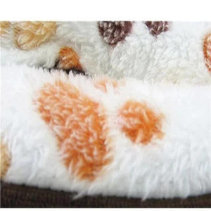 Coffee Colored Fleece Doggy Bed