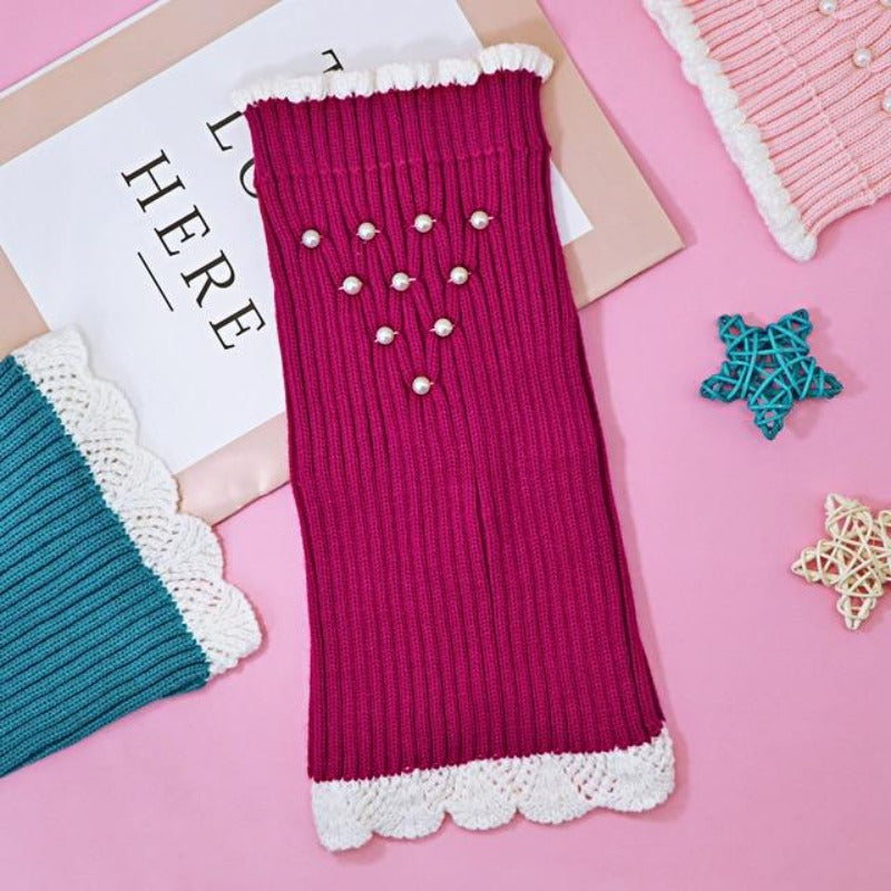 Pearl Knitted Dog Rose Sweater