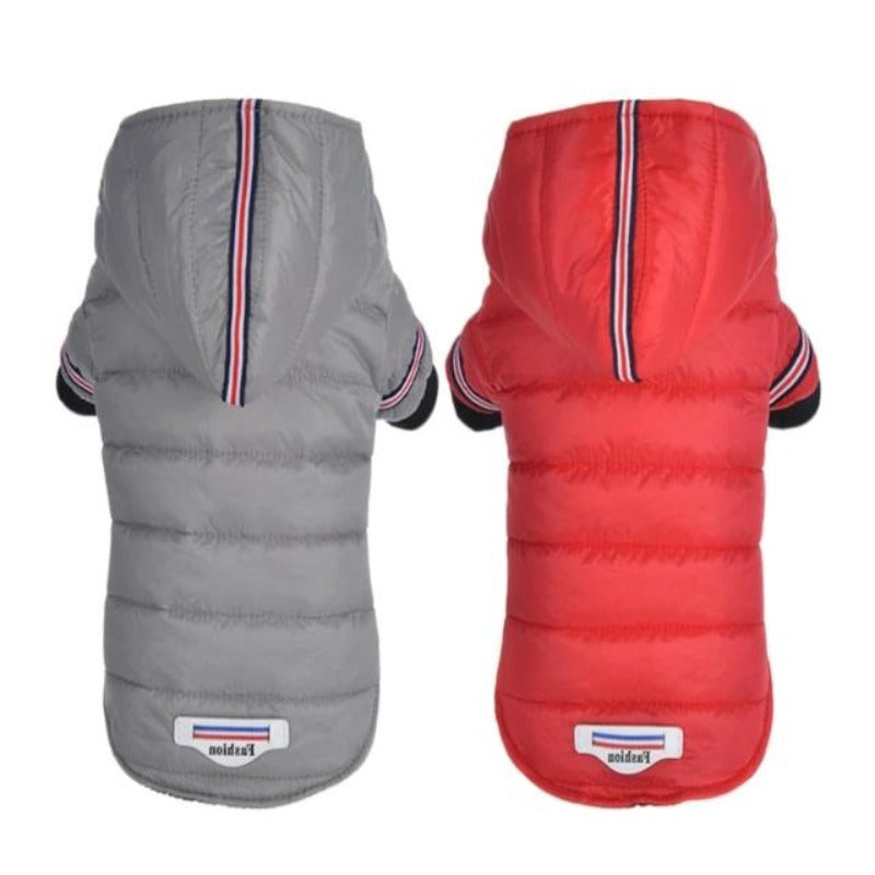 Gray & Red Outdoor Hoodie Dog Jacket