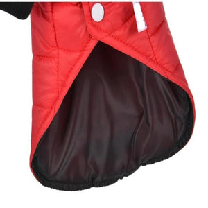 Red Outdoor Hoodie Dog Jacket