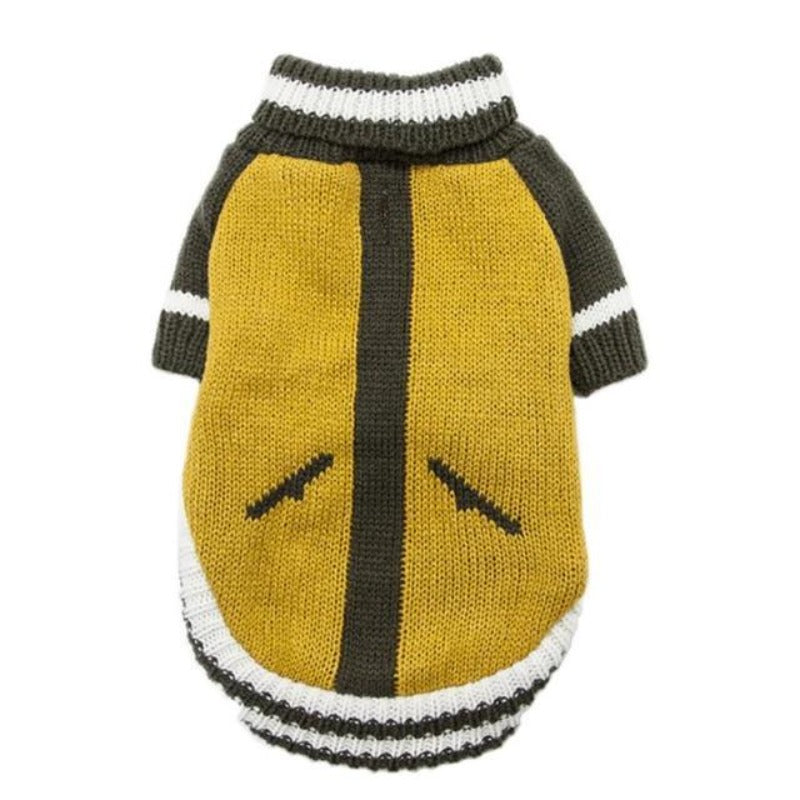 Cool Yellow Turtleneck Dog Sweater
