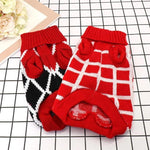 Load image into Gallery viewer, Checkered Red and White Diamond Dog Sweater and Red, White and Black Diamond Dog Sweater