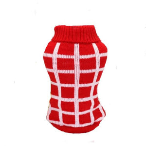 Red/White Diamond Dog Sweater