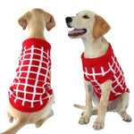Load image into Gallery viewer, A Dog Wearing A Red/White Diamond Dog Sweater