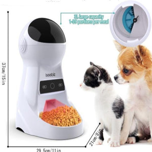 Automatic Dog Feeder 3L Food Dispenser, Voice Recorder & Camera