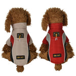 Load image into Gallery viewer, 2 Dogs Wearing A Red And Beige All Weather Dog Vest