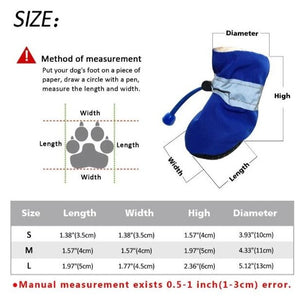 Soft Indoor Dog Booties Size Guide