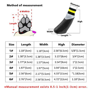 Rubber Doggy Socks Size Guide