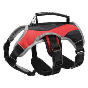 Red Reflective Training Dog Vest Harness