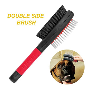 Double Sided Brush In Dog Grooming Set