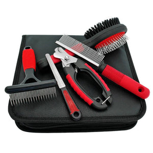 Dog Grooming Set: Brush, Comb, Clipper & Nail File