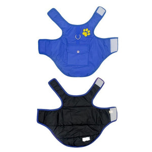 Blue Double Sided Dog Vest