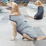 Load image into Gallery viewer, A Dog Wearing A Blue Reversible Plaid Dog Vest