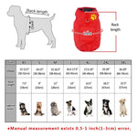 Load image into Gallery viewer, Double Sided Dog Vest Size guide