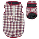 Load image into Gallery viewer, Red Reversible Plaid Dog Vest