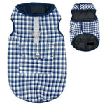 Load image into Gallery viewer, Blue Reversible Plaid Dog Vest