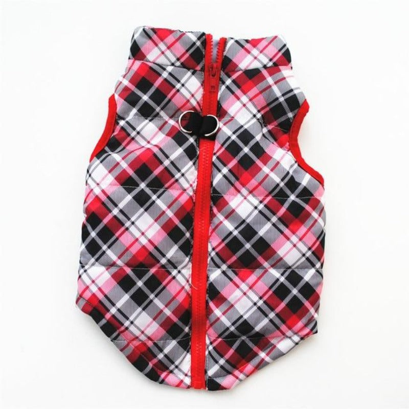 Red Plaid Colorful Dog Vest