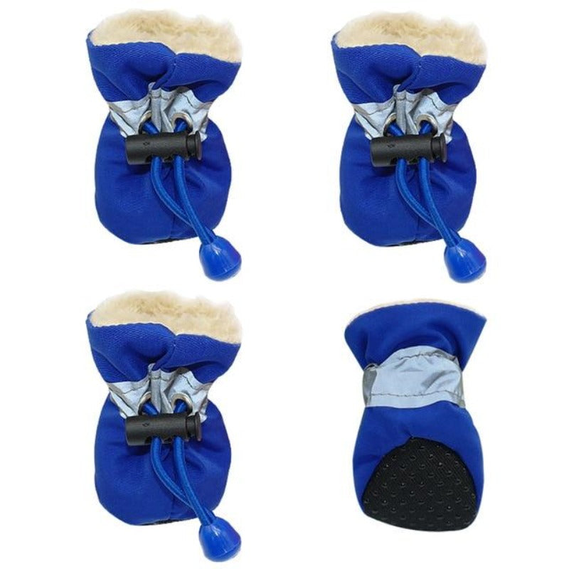 Blue Soft Indoor Dog Booties