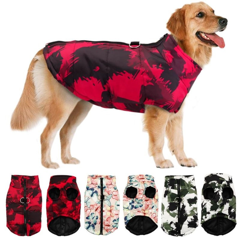 The 3 Colors Of The Patterned Dog Vest, Red, Pink, Black