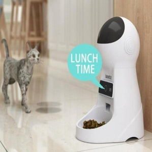 Automatic Dog Feeder With Voice Recorder/Camera