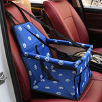 Load image into Gallery viewer, Blue Car Seat/Mesh Hammock For Dogs With Pawprintss
