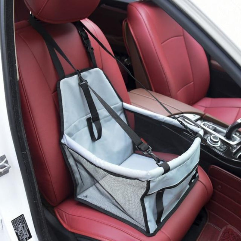 Gray Car Seat/Mesh Hammock For Dogs
