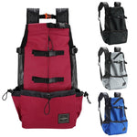 Load image into Gallery viewer, Colors Of The Big Dog Shoulder Backpack, Red, Black, Gray & Blue