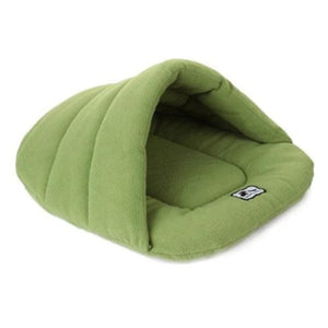 Green Slipper Dog Sleeping Bag