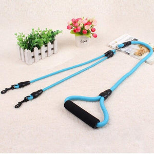 Toggy Doggy Blue Dual Dog Leash
