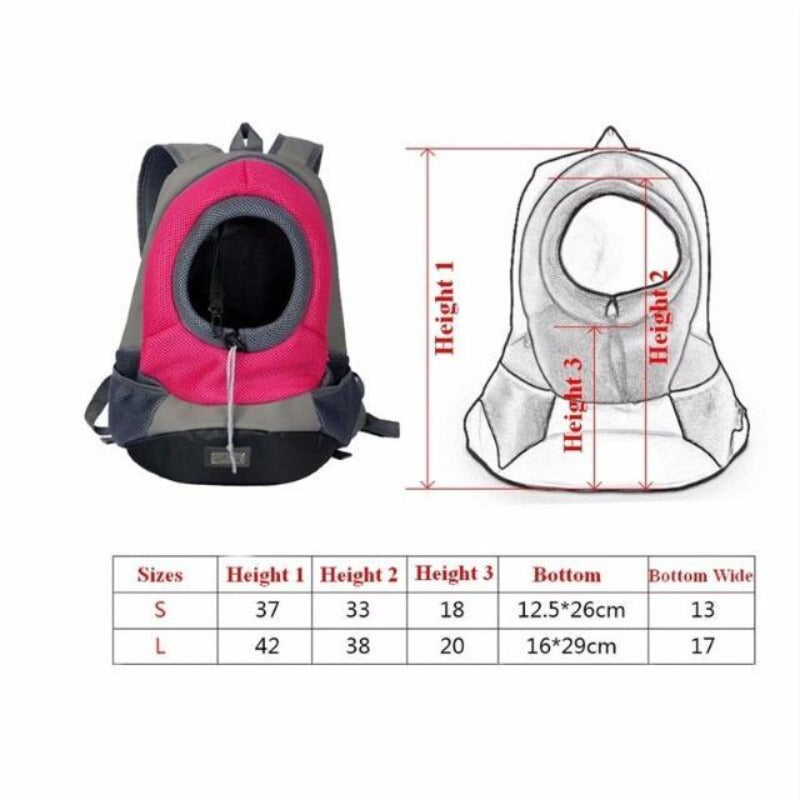 Front Carrying Dog Backpack Size Guide