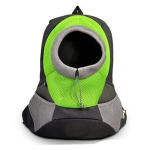 Green Front Carrying Dog Backpack