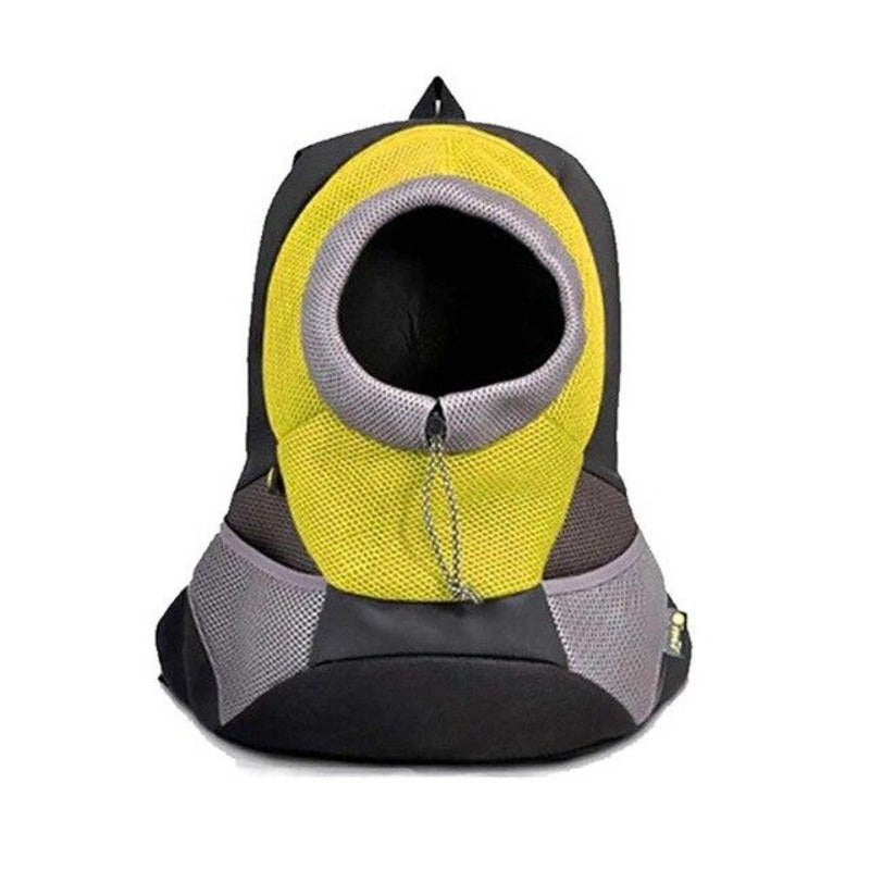 Yellow Front Carrying Dog Backpack