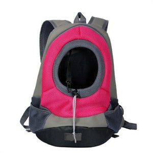 Pink Front Carrying Dog Backpack