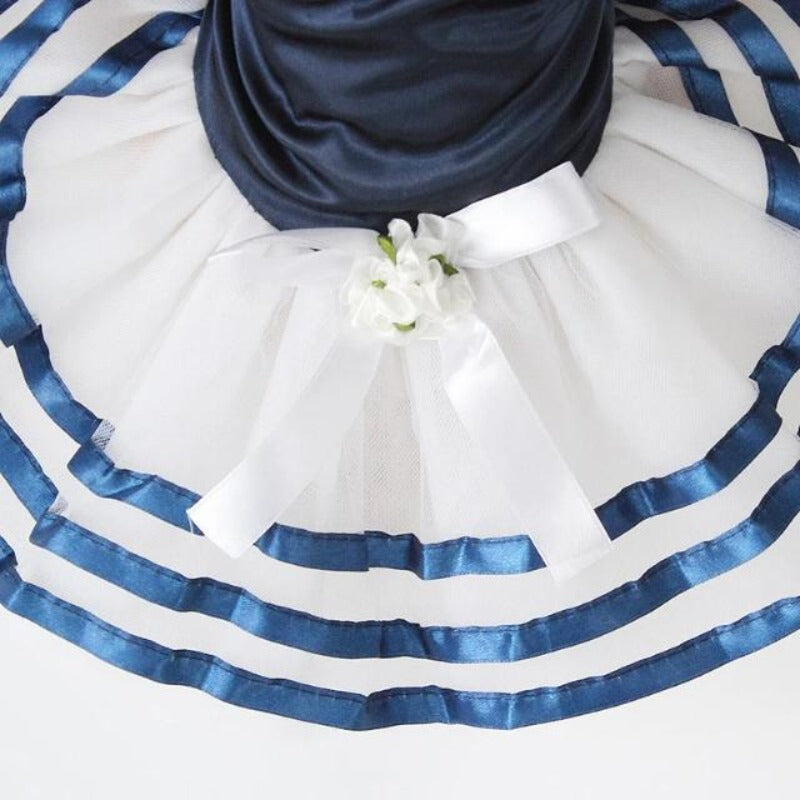 Blue Sailor Dog Dress