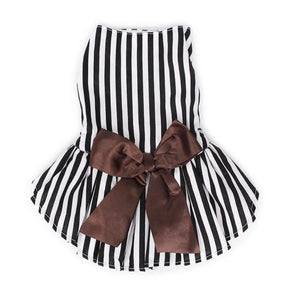 Black and White Striped Dog Dress