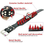 Load image into Gallery viewer, Spike Studded Dog Collar, Black, Brown, Red, & More, S-XL