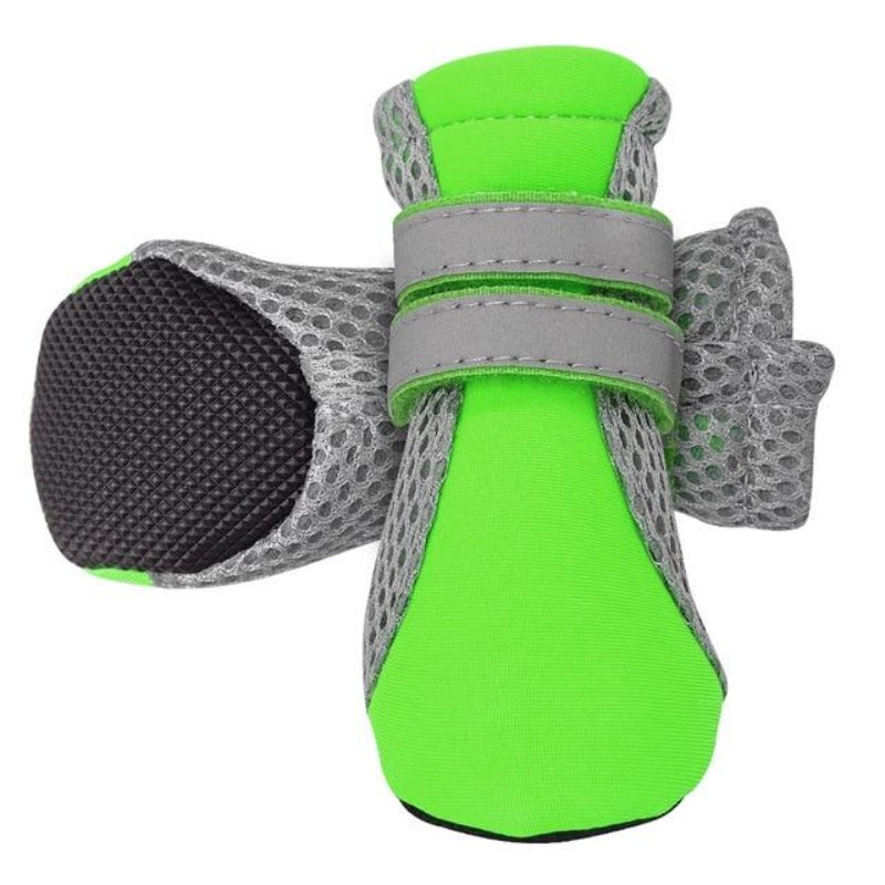 Green Indoor Walking Dog Shoes