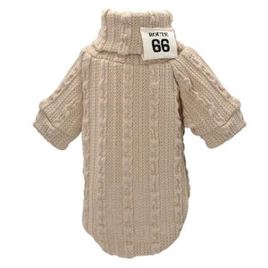Beige Classic Knit Warm Sweater