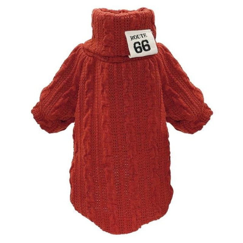 Red Classic Knit Warm Sweater