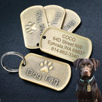 Load image into Gallery viewer, Toggy Doggy Solid Metal Military Style Bronze Dog Tag