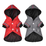 Load image into Gallery viewer, Gray & Red Outdoor Hoodie Dog Jacket