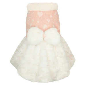 Pink Princess Fleece Dog Coat